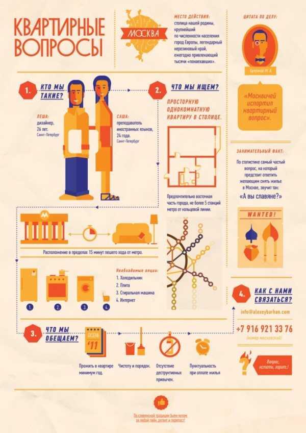 a02814dd6346a Ниже мы приводим 22 примера креативных объявления о поиске квартиры с  использованием инфографики, иллюстрации и бескрайней фантазии.